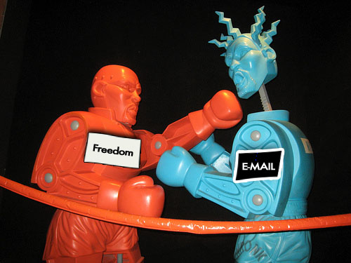 Freedom software knocks email's block off