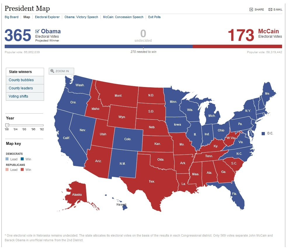 2008 presidential election us map