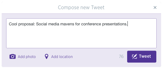 Social Media mavens for conference presentations