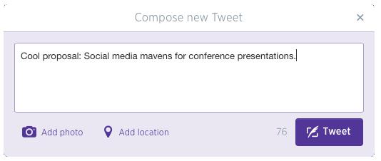 Social Media mavens for conference presentations